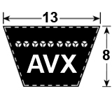 AVX13 Automotive V-Belts