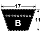 B Section Vee Belt