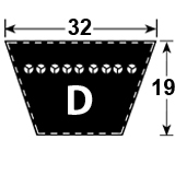 D Section Vee Belt
