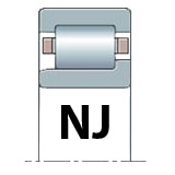 NJ - Flanged Inner Ring Slides One Way