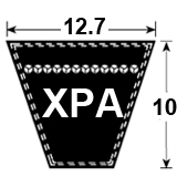XPA Cogged Section Wedge Belt