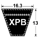 XPB Cogged Section Wedge Belt