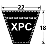 XPC Cogged Section Wedge Belt