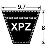 XPZ Cogged Section Wedge Belt
