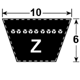 Z Section Vee Belt