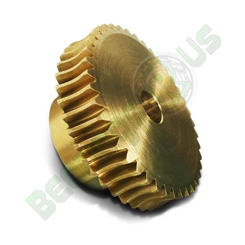 BWW075/50/1R 0.75 Mod 50 Tooth Metric Wormwheel in Bronze 20° PA