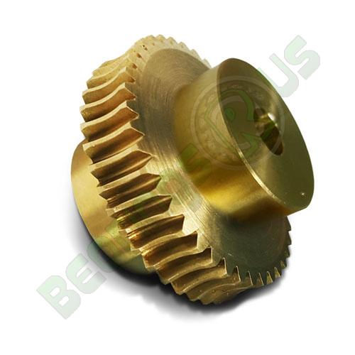 BWW20/50/1R 2 Mod 50 Tooth Metric Wormwheel in Bronze 20° PA