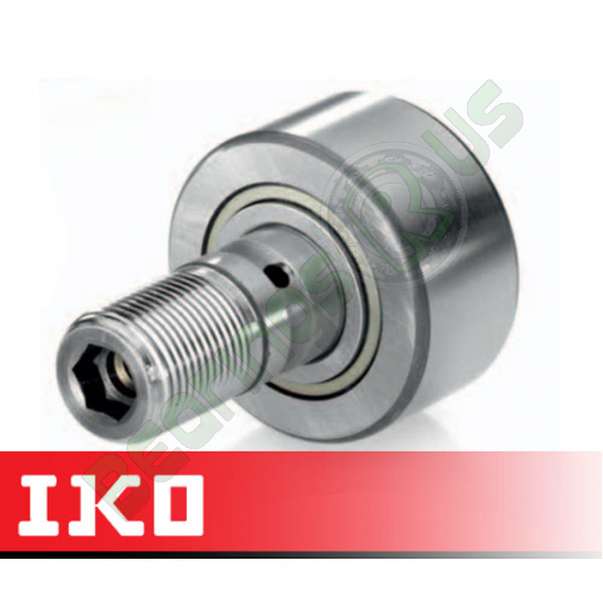 CF8BR IKO Cam Follower 19mm Crowned Roller - Stud M8x1.25 Thread
