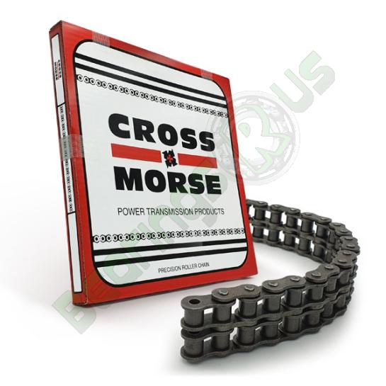 3/8 Pitch 06B-2 Duplex Cross & Morse Roller Chain - 25 Foot Box