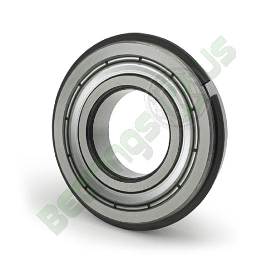 6001-ZZ-NR Shielded Snap Ring Deep Groove Ball Bearing 12X28X8mm