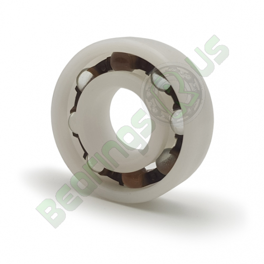P6300-GB Plastic Open Deep Groove Ball Bearing with Glass Balls 10x35x11mm
