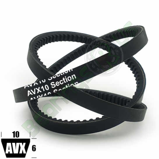 AVX10X940 Cogged (CRE) Automotive V-Belts - 940mm Inside Length