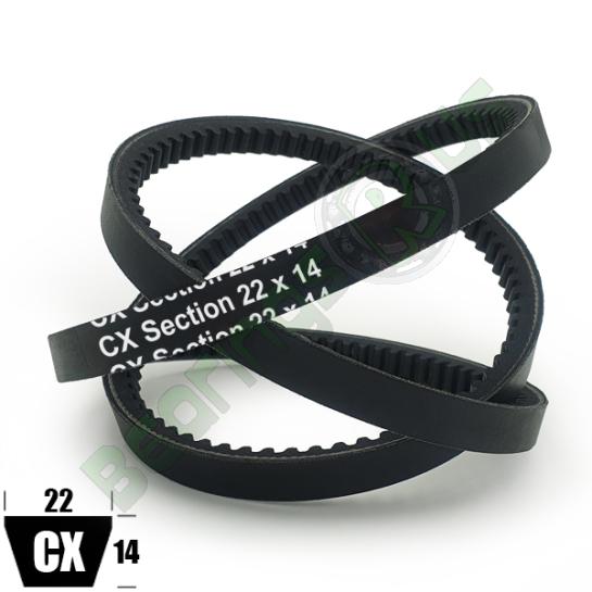 "CX136 Premium Cogged (CRE) CX Section V Belt - 136"" Inside Length"