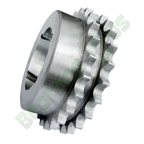 """62-22 (12B2-22) 3/4"""" Pitch Steel Taper Lock Duplex Sprocket"""
