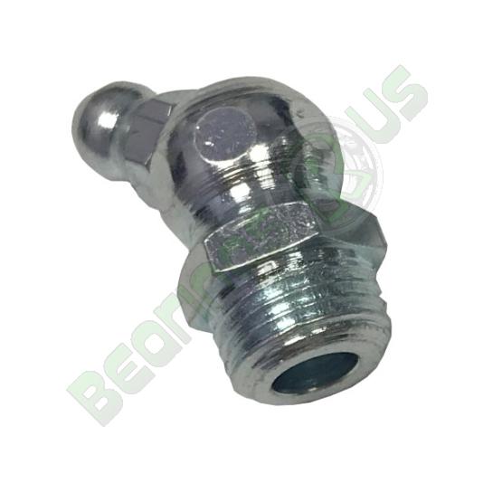 M8x1 Mild Steel Zinc Plated 45° Hydraulic Grease Nipple