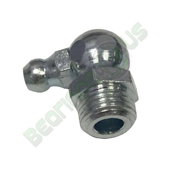 M8x1 Mild Steel Zinc Plated 90° Hydraulic Grease Nipple