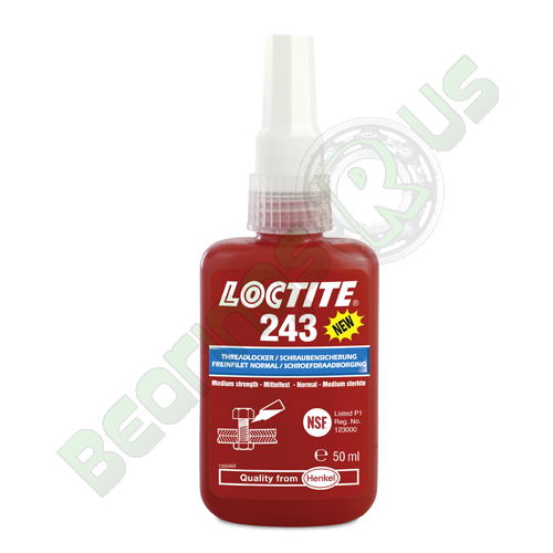 Loctite 243 - Medium Strength Oil Tolerant Threadlocker 50ml