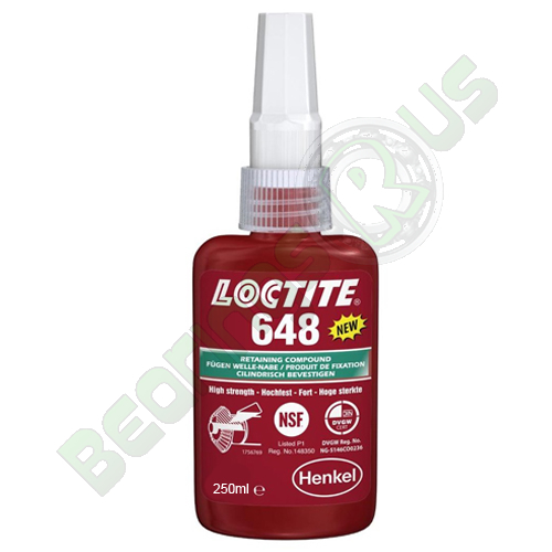 Loctite 648 - High Strength High Temperature Fast Cure Retainer 250ml