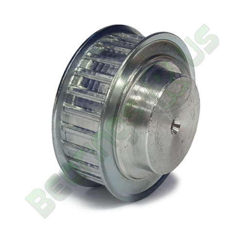 AL16T2.5/28-2 T2.5 Aluminium pulley for a 6mm wide belt
