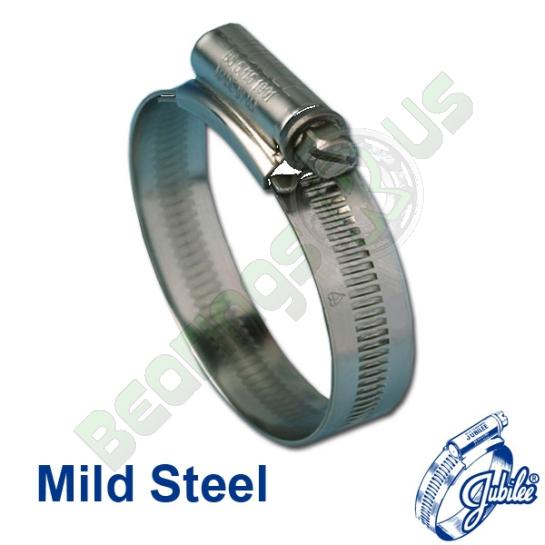 Jubilee Hose Clip Size 0XMS Mild Steel (18-25mm) - Pack of 10