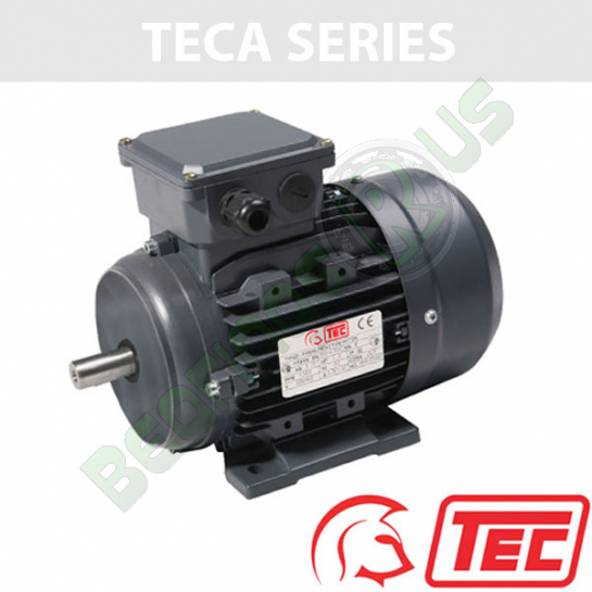 TEC IE2 Rated 3 Phase 0.75kw 2840rpm (2Pole) D80 (802-2) Frame B3 Foot Mounted Electric Motor