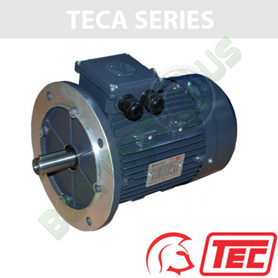 TEC IE2 Rated 3 Phase 2.2kw 2880rpm (2Pole) D90L Frame B5 Flange Mounted Electric Motor