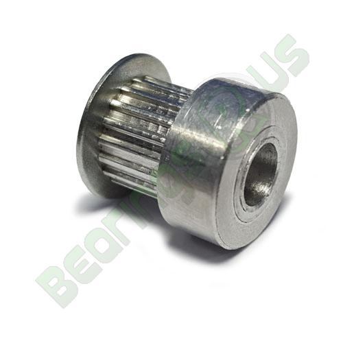 AL16T2.5/14-2 T2.5 Aluminium pulley for a 6mm wide belt