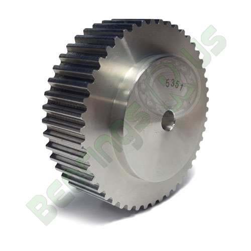 """48-XL-037 Pilot Bore Imperial Timing Pulley, 48 Teeth, 1/5"""" Pitch, For A 3/8"""" Wide Belt"""