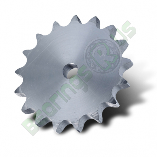 "4SR17PW (P08B1-17) 1/2"" Pitch Steel Pilot Bore Simplex Platewheel with 17 Teeth"