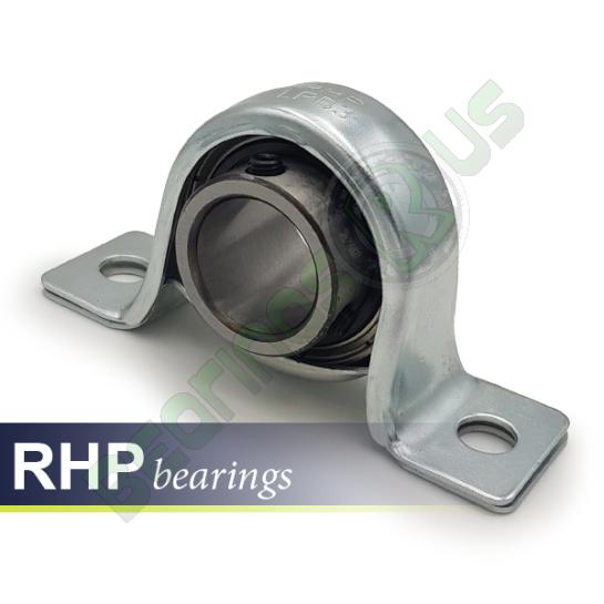 LPB16 RHP Self-Lube 2 Bolt Pressed Steel Pillow Block Bearing 16mm Shaft