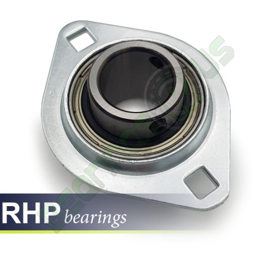 SLFL16 RHP Self-Lube 2 Bolt Pressed Steel Flange Unit Bearing 16mm Shaft