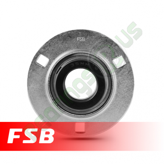 SAPF201 Pressed Steel Housing Flange Unit 12mm shaft
