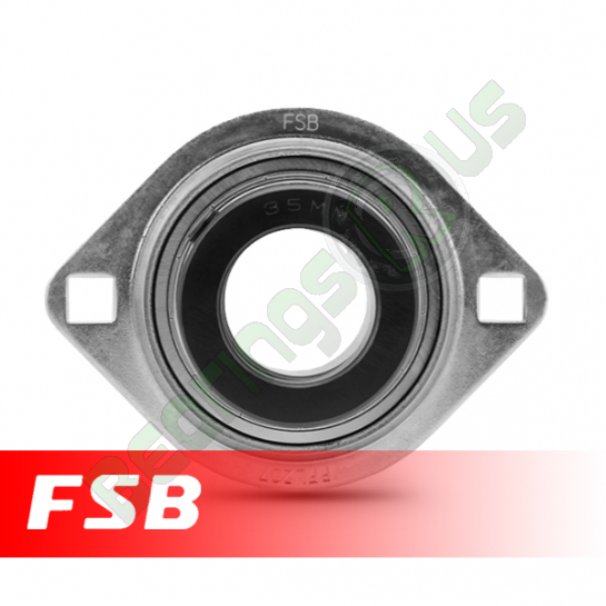SAPFL201 Pressed Steel Oval Flange Unit 12mm shaft