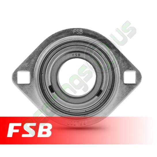 """SBPFL205-14 Pressed Steel Oval Flange Unit 7/8"""" shaft"""