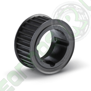 """24-H-100F Taper Lock Imperial Timing Pulley, 24 Teeth, 1/2"""" Pitch, For A 1"""" Wide Belt"""