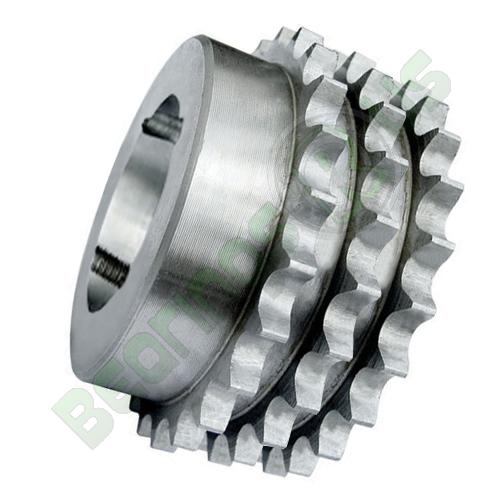 """43-27 (08B3-27) 1/2"""" Pitch Steel Taper Lock Triplex Sprocket"""