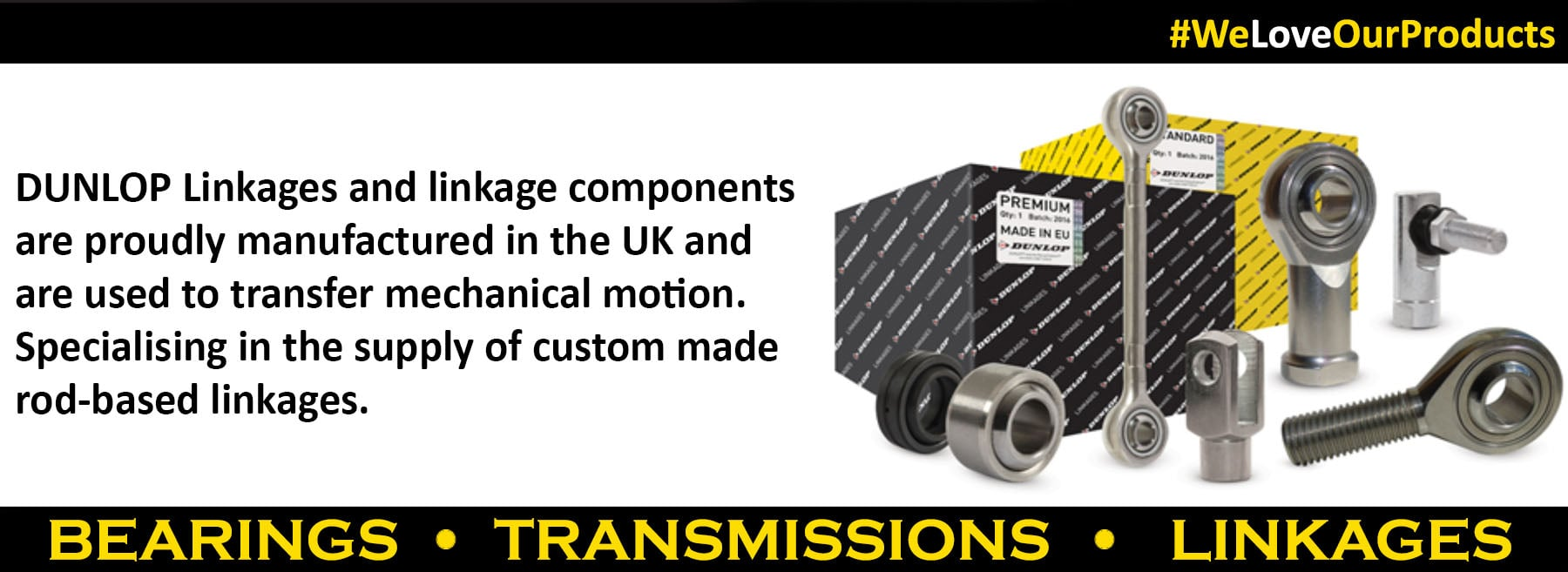 Dunlop Bearings, Transmission and Linkages
