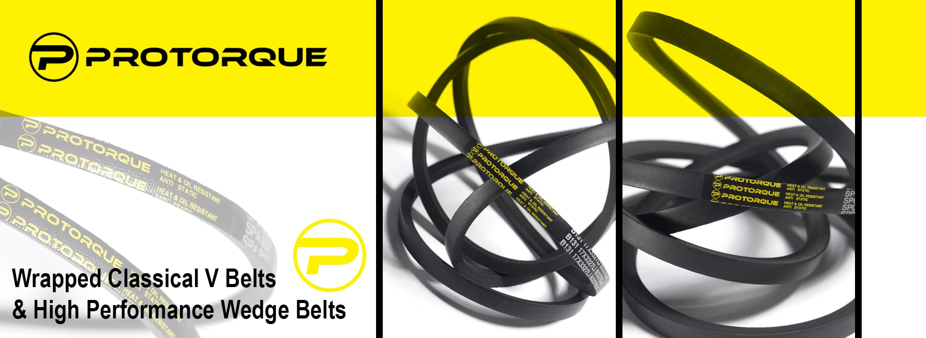 Protorque - Wrapped Classical V Belts and High Performance Wedge Belts