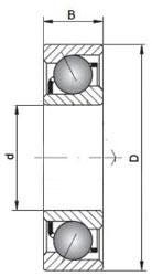 7201 B TVP FAG Angular Contact Bearing 12x32x10mm