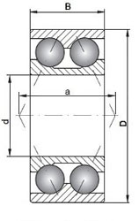 3201 A-2RS1TN9/MT33 SKF Double Row Angular Contact Bearing 12x32x15.9 (mm)
