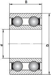 4202 BBTVH FAG Double Row Deep Groove Ball Bearing 15x35x14 (mm)