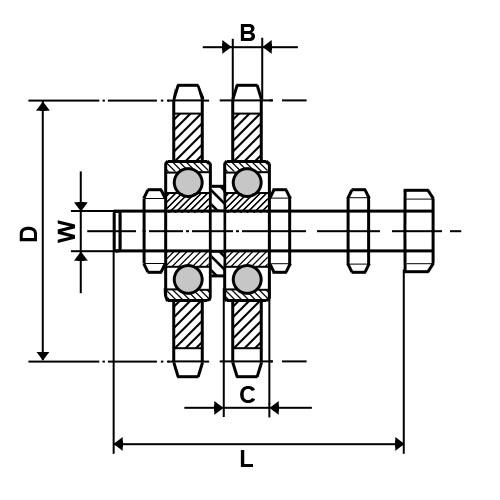 N1/2-10D Dunlop Tensioner Idler Sprocket