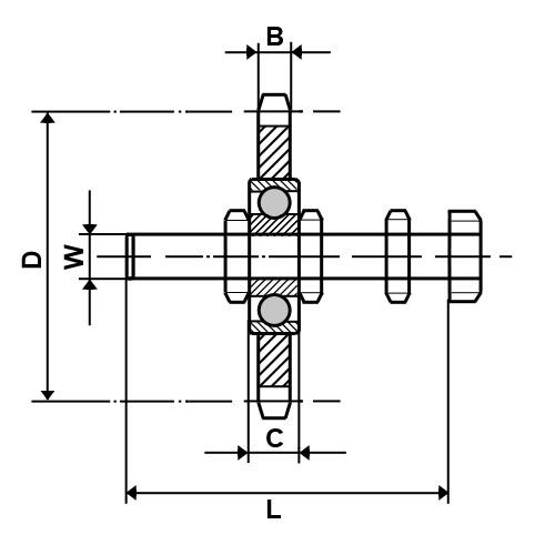 N3/8-10S Dunlop Tensioner Idler Sprocket