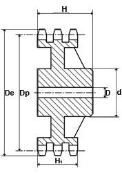 10TR45 (20B3-45) Triplex Sprocket