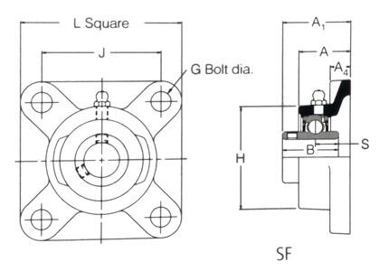 RHP SF15 Self Lube Bearing 15mm