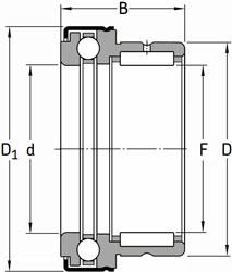 NKX 10 ZTN SKF Needle Roller + Thrust Ball Bearing 10x19x23 (mm)