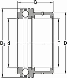 NKX 50 SKF Needle Roller + Thrust Ball Bearing 50x62x35 (mm)
