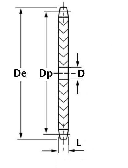 5SR56 (10B1-56) Simplex Sprocket