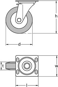 Swivel Castor Diagram
