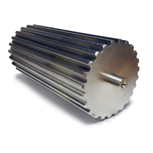 BT2.5-72 Aluminium Bar Stock T2.5 Pitch with 72 Teeth